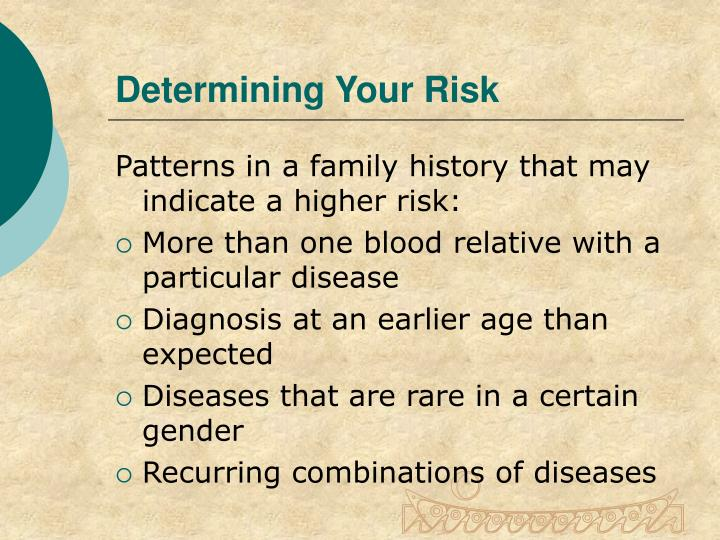 Determining Your Risk