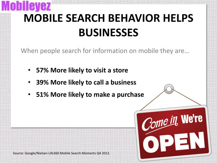 MOBILE SEARCH BEHAVIOR HELPS BUSINESSES