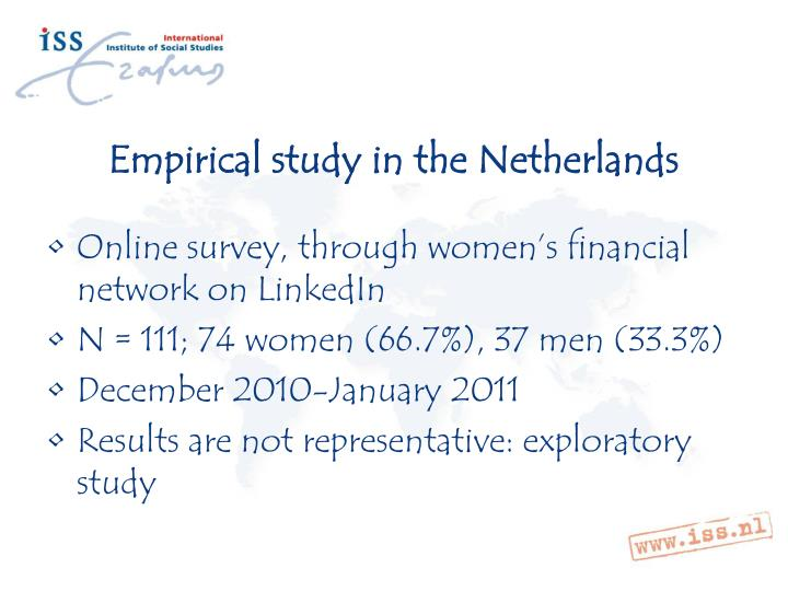 Empirical study in the Netherlands