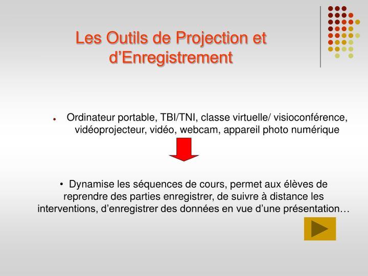 Les Outils de Projection et d'Enregistrement