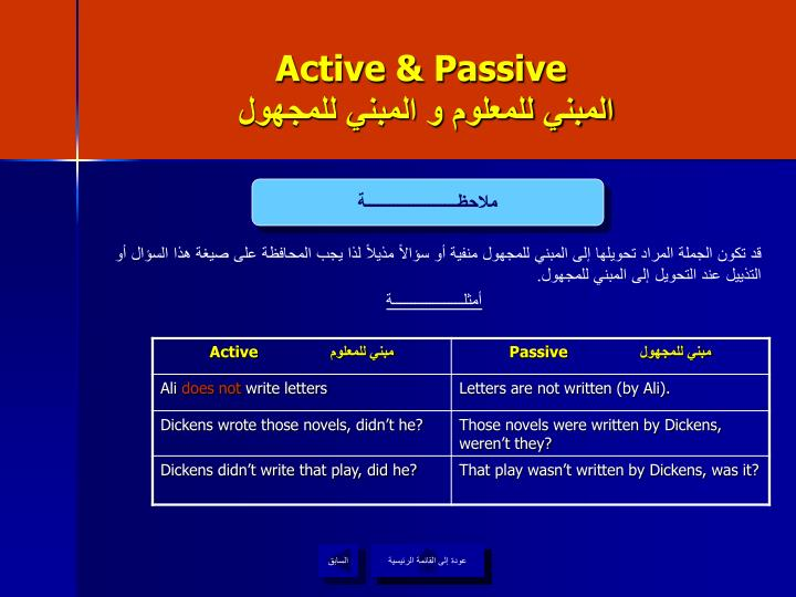 Active & Passive