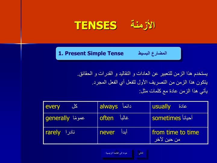TENSES