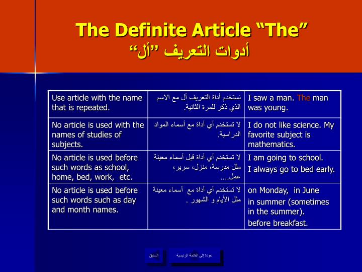 "The Definite Article ""The"""