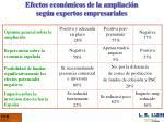 efectos econ micos de la ampliaci n seg n expertos empresariales