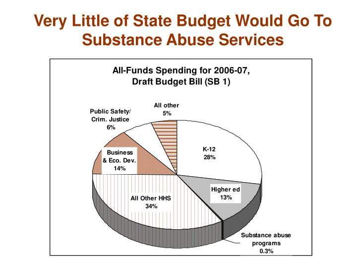 Very Little of State Budget Would Go To Substance Abuse Services