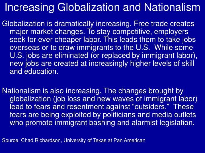 Increasing Globalization and Nationalism