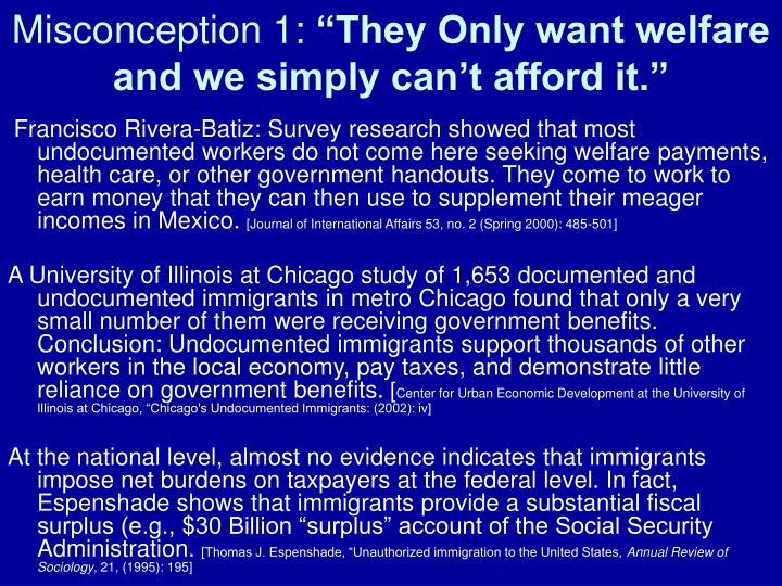 Misconception 1: