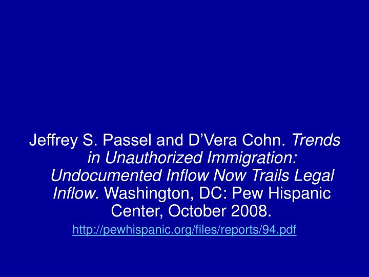 Jeffrey S. Passel and D'Vera Cohn.