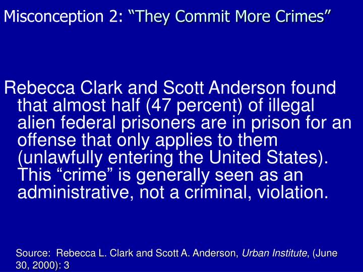 Misconception 2: