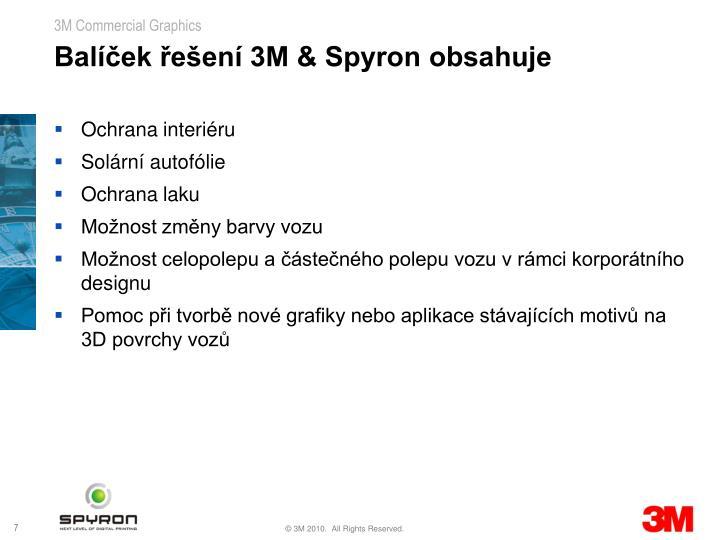 Balíček řešení 3M & Spyron obsahuje