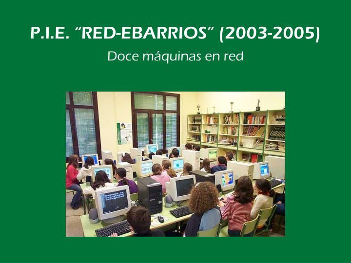 """P.I.E. """"RED-EBARRIOS"""" (2003-2005)"""