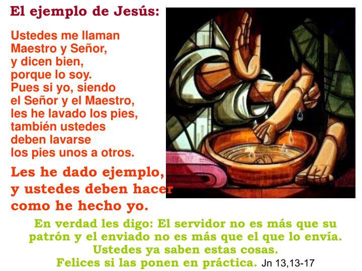 El ejemplo de Jesús: