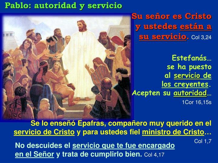Pablo: autoridad y servicio