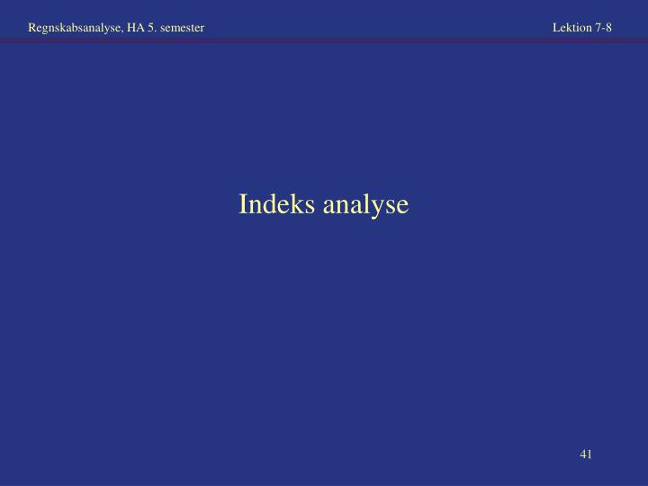 Indeks analyse