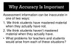 why accuracy is important