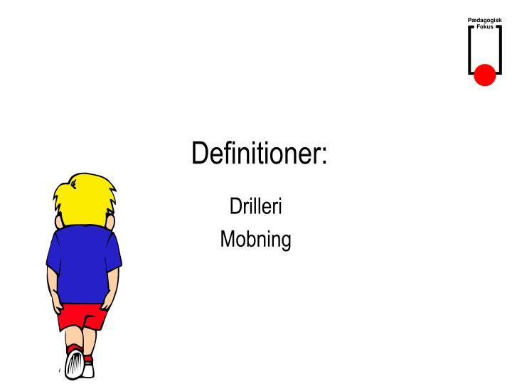 Definitioner: