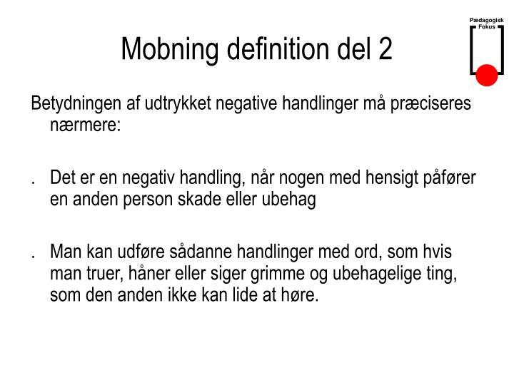 Mobning definition del 2