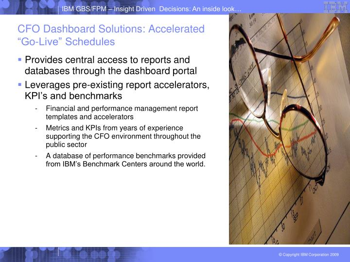 """CFO Dashboard Solutions: Accelerated """"Go-Live"""" Schedules"""