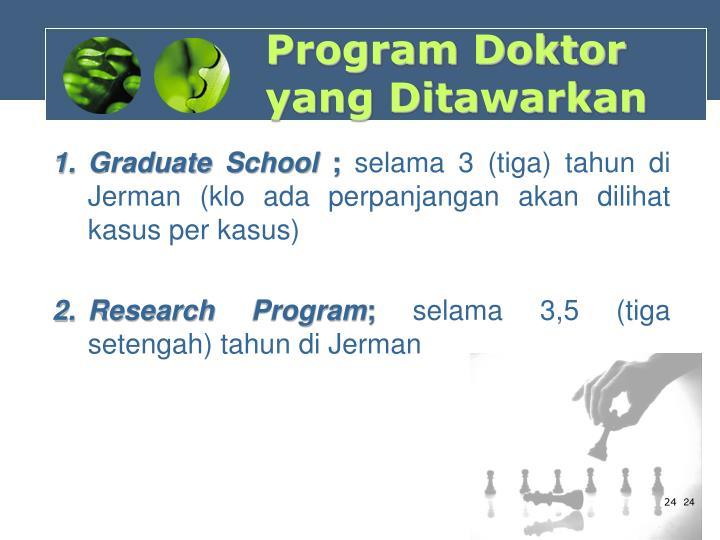 Program Doktor yang Ditawarkan