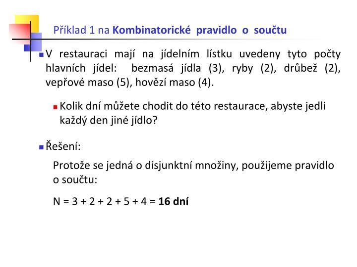 Příklad 1 na