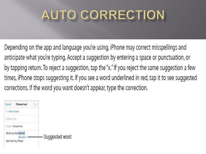 Auto correction