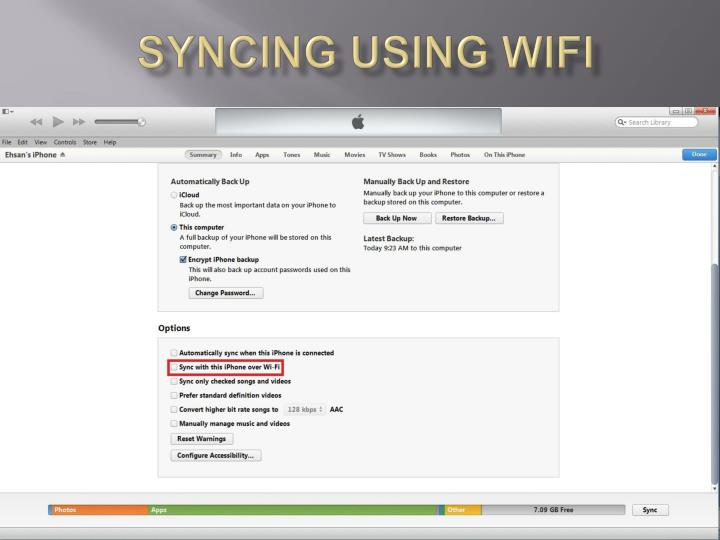 syncing using