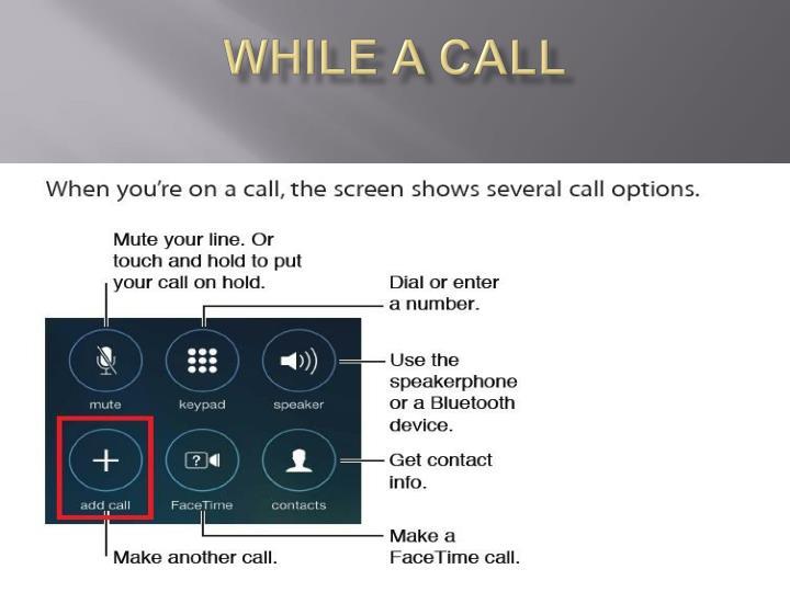 While a call