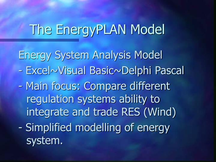 The EnergyPLAN Model