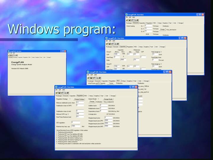 Windows program: