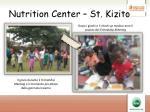 nutrition center st kizito