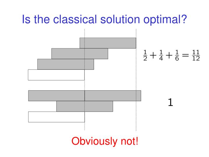 Is the classical solution optimal?