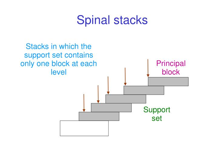 Spinal stacks