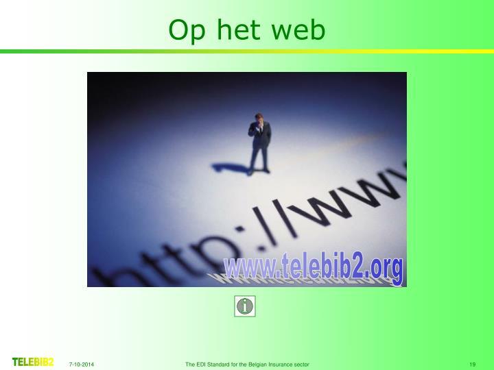 Op het web