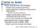 vector vs scalar