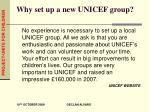 why set up a new unicef group1