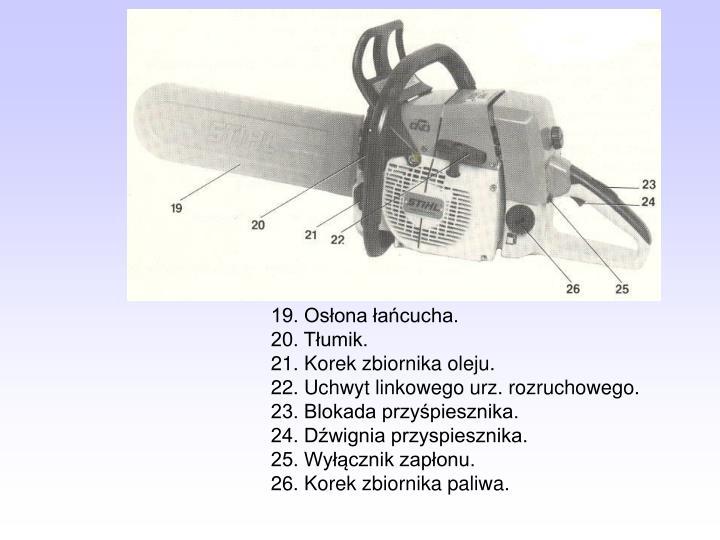 19. Osłona łańcucha.