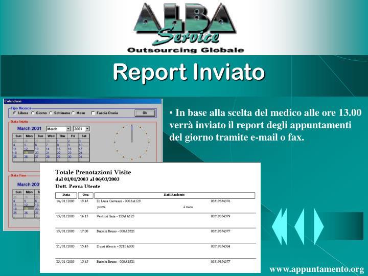 Report Inviato