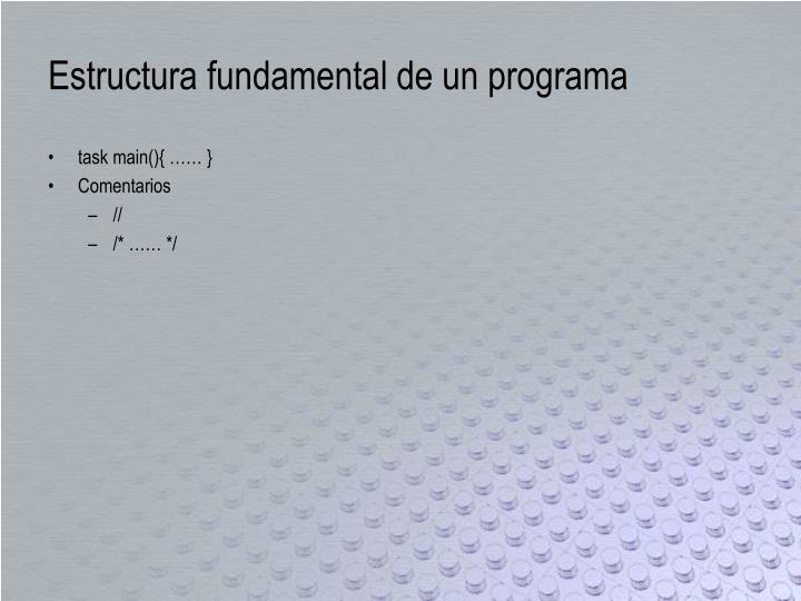 Estructura fundamental de un programa