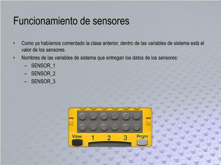 Funcionamiento de sensores