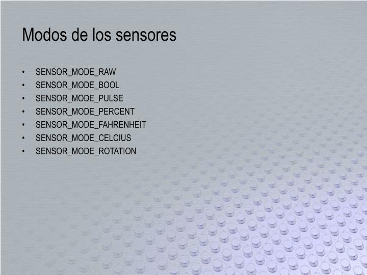 Modos de los sensores