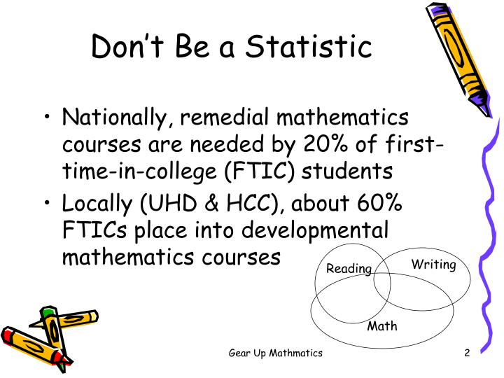 Don t be a statistic