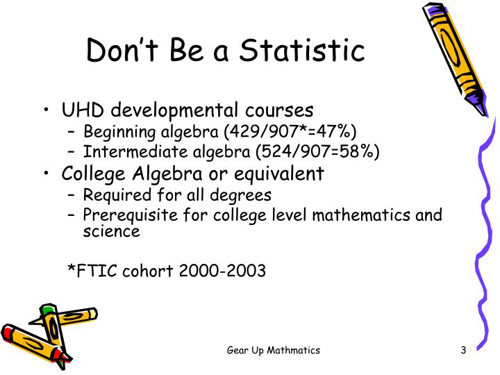 Don t be a statistic1