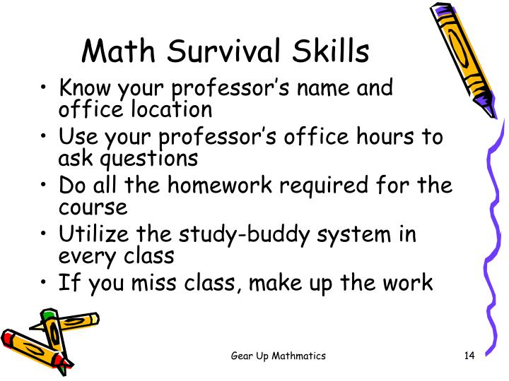 Math Survival Skills
