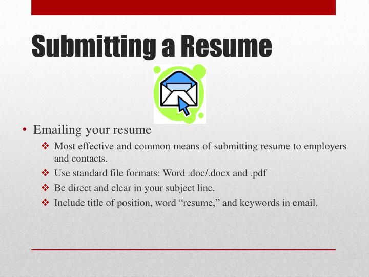 Emailing your resume