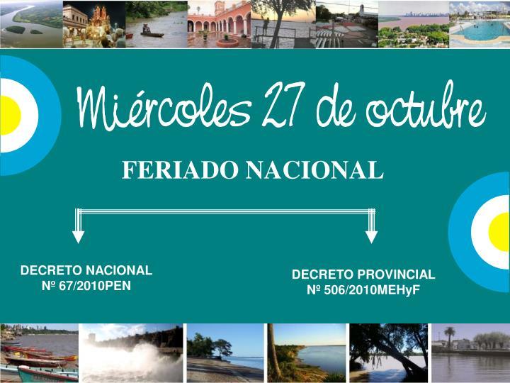 FERIADO NACIONAL