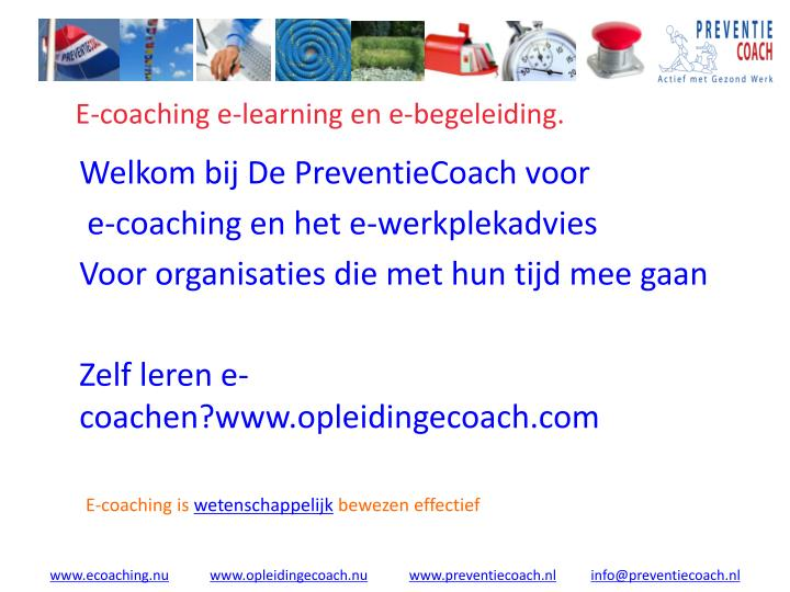 E coaching e learning en e begeleiding