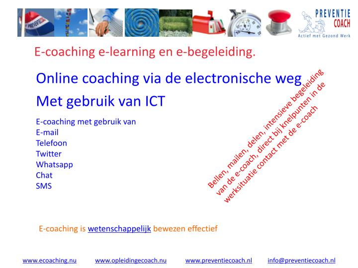 E coaching e learning en e begeleiding1