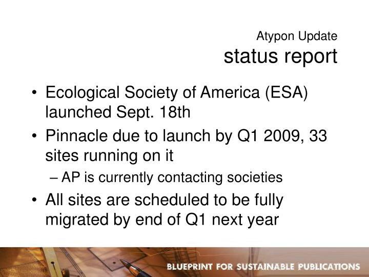 Atypon Update