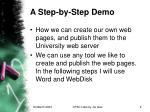 a step by step demo