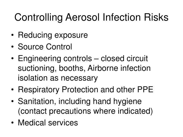 Controlling Aerosol Infection Risks